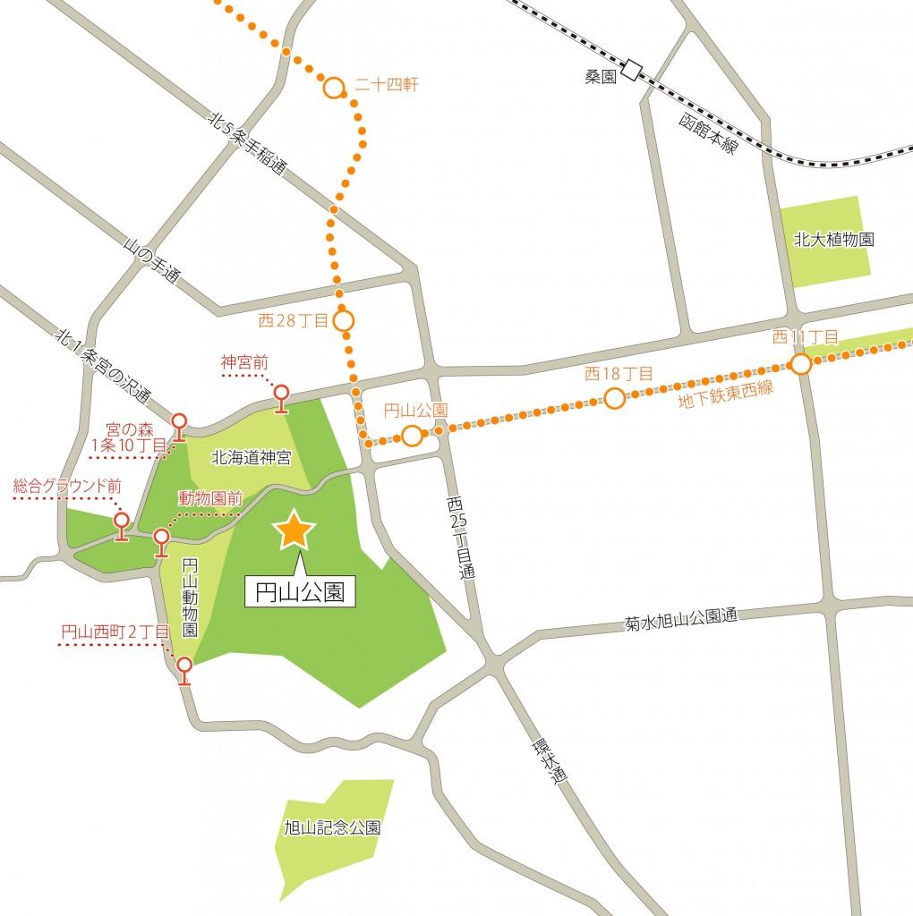円山公園周辺マップ
