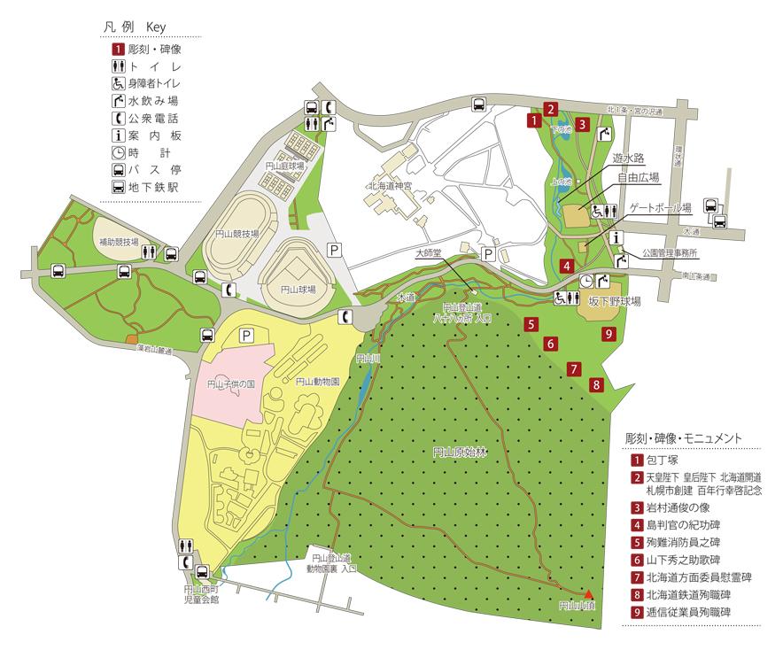 円山公園MAP