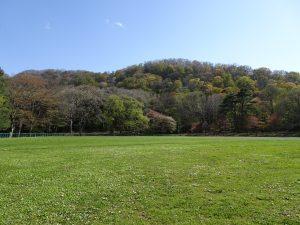 2021年5月6日園内の様子3坂下野球場から見える円山